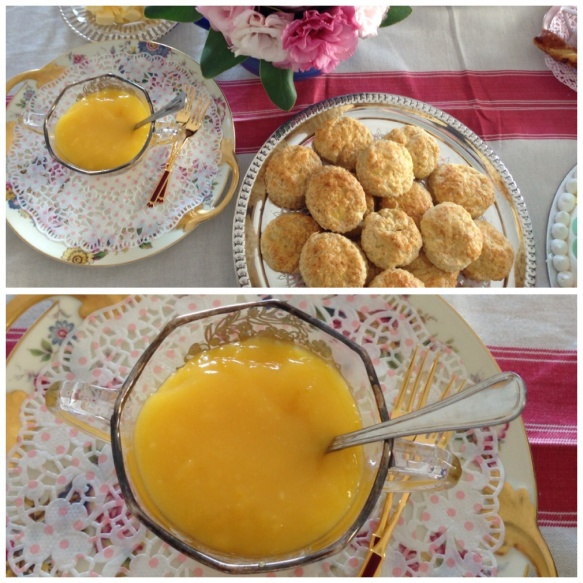 "Scones and lemon curd. Recipe on "" nowathome"""