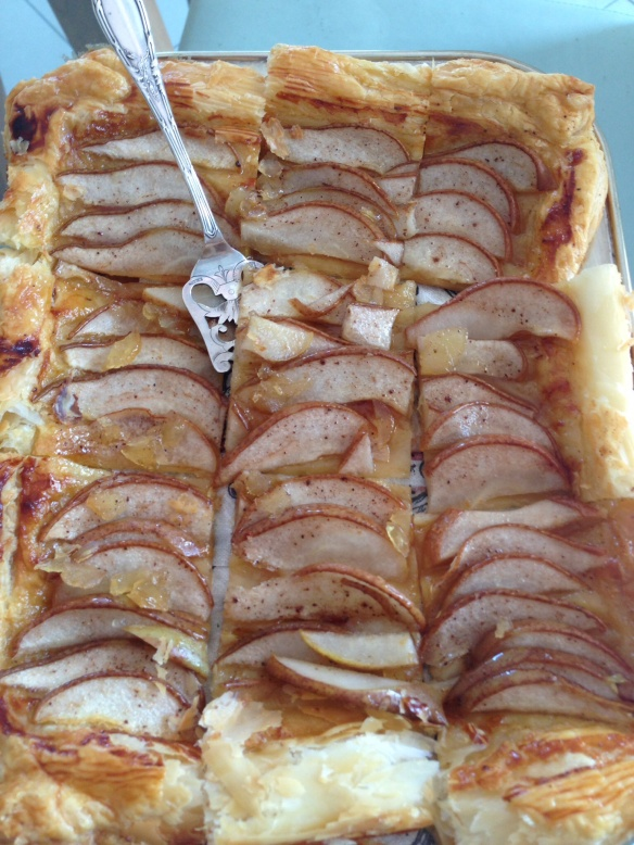 French pear&ginger tart