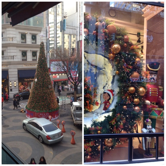 Christmas trimmings Seoul