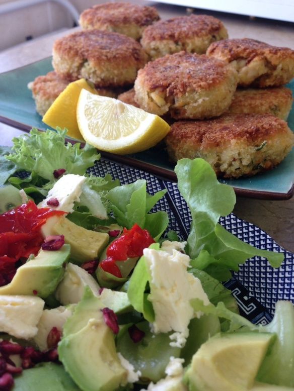 Sweet potato fish cakes