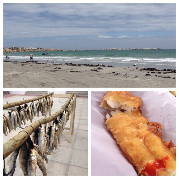 Paternoster, fish on the beach