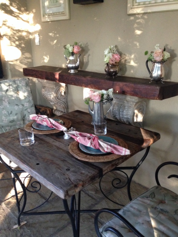 Table setting at Morrells Farm House, Johannesburg