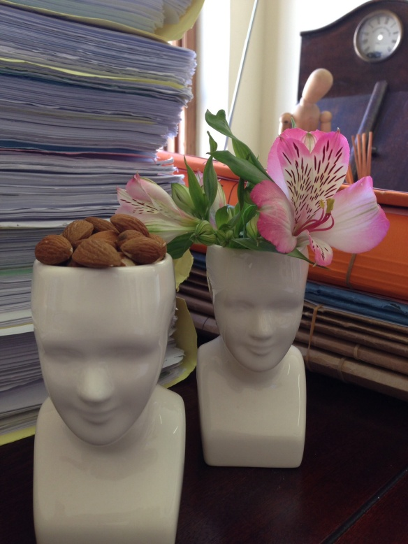 Flower head and picking brains?