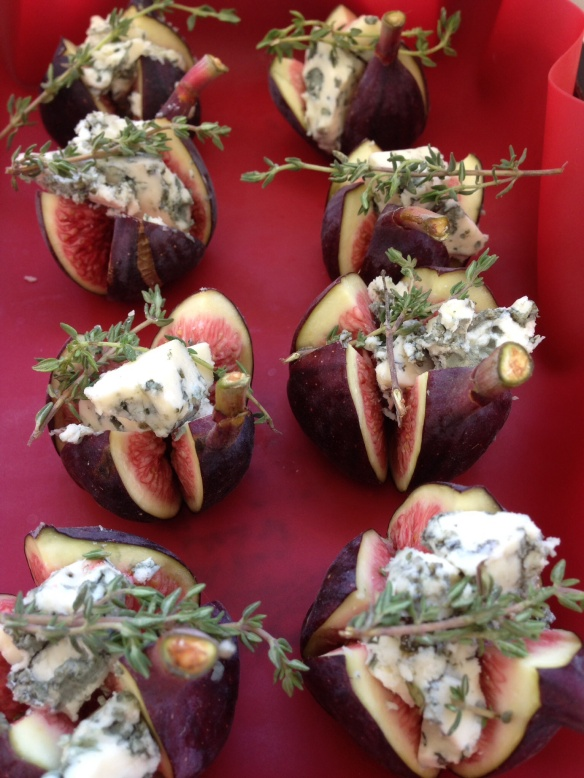 Baked figs and Blue cheese