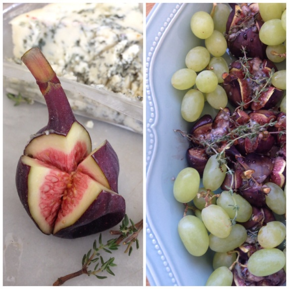 Baked figs and ice cold green grapes
