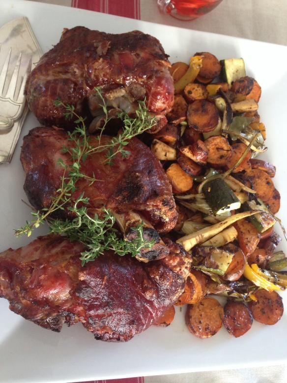 Eisbein & roast veg