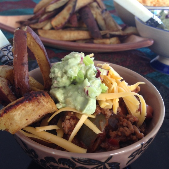 Chilli Con Carne & Sweet Potato Chips