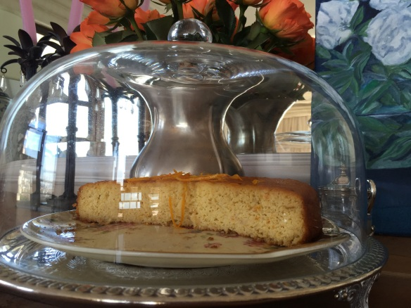 Orange Cake with brandy sauce